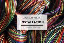 Installation / Explore the power and beauty of fiber in installations.