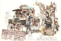 Classic Car Art / Car art and postcards from the early 20th century