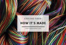 How It's Made / Explore videos that show how fiber tools and materials are made.