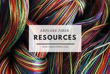 Explore Fiber Resources / Explore Fiber has LOTS of resources to fiber classes, organizations, university programs, social media links, and much, much more.  Have a resource to add?  Contact us!