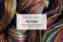 Felting / Explore the transformation of fibers into felted expressions.