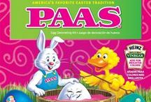 PAAS Egg Decorating Kits / PAAS® makes the Easter tradition of dyeing and decorating Easter eggs fun for the whole family. With a variety of kits to choose from, you will never decorate an egg the same way twice! Some of our best selling kits let you create Sparkling Glitter eggs, cool Tie Dye effects and bright Neon eggs.  A tradition for generations, PAAS® helps you create special moments to share the joy of Easter with your family, and you and your children or grandchildren with holiday memories that last a lifetime.