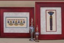 Egyptian Cross Stitch Designs / Counted cross stitch designs inspired by Ancient Egypt!  To view more information on these designs such as size, fabric, materials etc. please visit www.tgdcharts.com