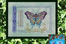 Figures, Animals & the like  - Cross Stitch / Collection of Figures, Mannequin, Fashion designs, Lady Bug, Butterfly, Dragonfly and the like .... in cross stitch! For more information on these and other designs, please visit www.tgdcharts.com or my Etsy Shop TurquoiseGraphics.Etsy,com