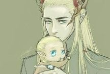 A King and His Little Leaf / a Legolas and Thranduil board!