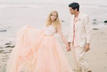 Think Pink - Beautiful Blush Wedding Gowns / Not feeling a white dress? Hop onboard the blush train!