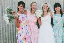 Flirty, Floral Bridesmaids Dresses