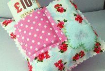 Tooth Fairy Pillows / My handmade designs that I sell on Folksy.  www.folksy.com/shops/littledorothymakes   #handmade, #craft, #sewing, #tooth, #fairy, #pillow, #pretty, #cute,