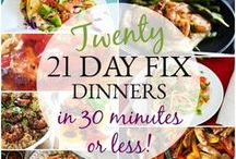 21 Day Fix Quick Dinner Recipes / Easy & quick 21 Day Fix dinner ideas!