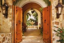 Wood Doorways / We love wood doors. Check out these unique, ornate wood doors across the ages. Need an exterior finish for your doors or want to try emulating these looks? Check out Exterior 450 from General Finishes, www.GeneralFinishes.