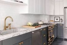 Cabinet Finishes / Tired of the same old same old? It's easy to give your home a whole new look and feel with products from General Finishes. Try our waterbased milk paints or wood stains to transform your wood cabinets. www.GeneralFinishes.com