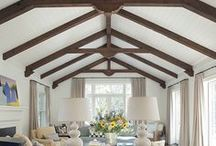 Wood Beams & Ceilings / Wood beams and ceilings can add the finishing touches in your living space. Finish them with a variety of waterbase or oil base wood finishes from General Finishes - www.GeneralFinishes.com and send us a photo!