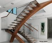 Wood Stairs with Style / These people climb in style on these unique wood staircases. Show use your creative staircases finished with our oilbased wood stains, waterbased wood stains, and oil or water based paints - www.GeneralFinishes.com