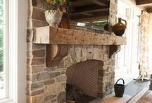 Wood Mantles & Fireplace Surrounds / Wood mantles and fireplace surrounds warm up a home. Check out these decorative, functional pieces and try it for yourself with one of our finishes - then let us know how it goes - www.GeneralFinishes.com.