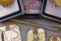 Stamping Techniques / Techniky - razítka a razítkovací barvy / Tipy na různé techniky, vytvořené pomocí razítek, razítkovacích barev a inkoustů.