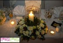 A winter wedding / This winter wedding took place at the Kingston Lodge Hotel in Kingston-upon-Thames. Held just before Christmas, the bride and groom opted for a wintry theme rather than Christmas, with Flower Power designing the flowers.