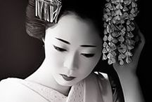 Nippon / Geisha, kabuki and samurai pics for inspiration.