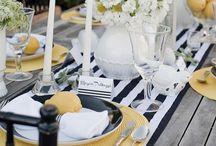 black and white -Hochzeitsinspiration / Wunderschöne Inspirationen und Deko für eine Hochzeit in einem ganz außergewöhnlichem Look. Schwarz und Weiß trifft auf Gold und leuchtende Farben. Wer es knallig und außergewöhnlich mag, liegt mit diesem Farbschema genau richtig...