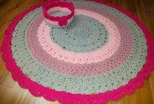 koszyki, dywaniki / koszyki, dywaniki  i inne pomysły wydziergane ze sznurka bawełnianego