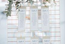 Sitzplan, Tischnummern & Namensschilder / Tolle Ideen für euren Sitzplan, die Tischnummern und die Namensschilder - stilsicher und modern für euren großen Tag.