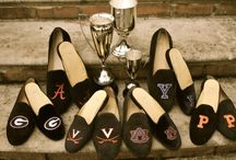Shoes Shoes Shoes / University and College logo mens and womens shoes www.jpcrickets.com  / by JP Crickets University and Collection Loafers