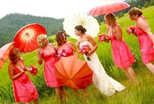Wedding Umbrellas / View our collection of romantic photos that were inspired by using umbrellas and parasols in their weddings. / by Bella Umbrella