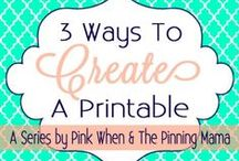Printable's! / by Kristi Corrigan