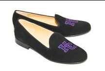 Holy Cross / Holy Cross logo shoes for men and women. JP Crickets is the go-to men's and women's shoe that combines an Italian-made loafer with the comfort of a classic velvet slipper. The relaxed style shoe boasts an embroidered college logo shoe on suede, velvet, or linen with an all leather sole. Tassel loafers, monogrammed logos, and custom designed shoes also available. Italian-made loafers embroidered with college logos or monograms on suede, linen, or velvet. @holy_cross / by JP Crickets University and Collection Loafers