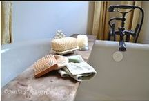 Rooms ~ Bath / Furnishing and decor for the bath.  DIY projects and easy crafts.