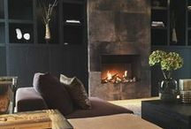 Fireplace Stacked Stone Design Inspiration / Natural stone wall panel veneers.