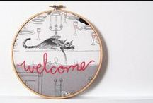 Personalized Hoop Art / Whether you're looking for a commemorative Christmas ornament, a unique piece of home decor, or a personalized baby shower or anniversary gift, a custom embroidered piece of hoop art can be the ideal solution. Customizable with endless colors and easily personalized, hoop art is a thoughtful way of sending a special message or marking an occasion.