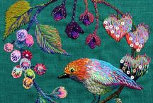 Stitching / Stitchery & embroidery / by Bronwyn Hughes