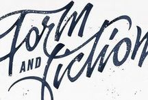 typography & lettering / well designed type