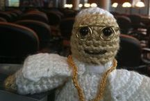 Lil' Pius / Lil' Pius is the social media mascot for Pius Library and as far as we know is the world's only crocheted pope library mascot.
