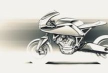 Sketches - MOTORCYCLES / #MOTORBIKES #MOTORCYCLES #SKETCHES #SKETCH #TWOWHEELS