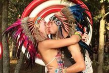 PLUR - How ravers style our headdresses... / We really adore the PLUR movement and love to see how ravers style our Indian headdresses for their events.
