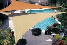 Shade Sails / Stylish Shade Sails from Coolaroo. Forget winter. Summer is coming!