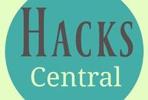 Hacks Central / Hacks are great time saving ways to do just about everything. Hacks include: life hacks, home hacks, technology hacks , decluttering hacks, work hacks, productivity hacks,  organization hacks, DIY hacks, money hacks, car hacks, travel hacks, health hacks, storage hacks and a whole lot more...