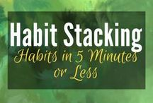 Habit Stacking (5 Minute Habits) / Habit Stacking: A  series of short habits - 5 minutes or less - that are packed together into a longer habit string to ensure daily habit completion. Simple habits that are hard to fail, because they are so small and easy. | Self help | Self improvement | Habit Change | Steve Scott | Psychology | Positive Psychology  | Mental Health | Well-being