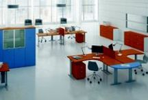 KAMOS - Operative design / Kamos is part of operative office furniture range. It is available in both metal and wooden structures. The version to be used is decided according to operative and aesthetical needs.