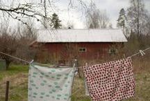 Wash, Iron and Fold / Nostalgic look at a more simple time or a time tested way of  cleaning our clothing and such. / by Suze : Blacktavernprimitives
