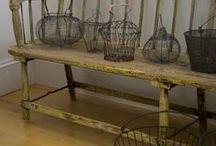 Old wire baskets / by Suze : Blacktavernprimitives