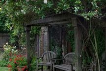 Rustic Primitive Garden Pic's & Tips /  to inspire your own creativity in creating a primitive garden ~ / by Suze : Blacktavernprimitives