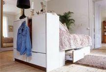 Sovrum / Bedroom / Här samlar Smpl alla bilder som handlar om att rensa, organisera och förvara saker i sovrummet
