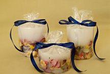 Λευκά χειροποίητα αρωματικά κεριά -White handmade aromatic candles / Λευκά χειροποίητα αρωματικά κεριά. White handmade aromatic candles