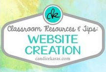Website Creation / You want to build a website for your classroom? Check out these pins.