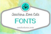 Fonts for Teachers / Teachers -- especially elementary teachers -- love fun fonts! This board is a collection of my favorites