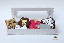 Biscuits & gâteaux sauvages / Gâteaux et créations pâtissières à poils, écailles et plumes. Accessoires et gâteaux d'anniversaires et de fêtes en forme d'animaux.