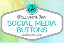Social Media Buttons / Social media buttons are perfect for linking various sites to your e-mail signature or other classroom websites