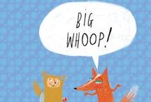 """Big Whoop! / Mr. Fox is eternally bored.  His response to all attempts to attract his attention entail the phrase, """"Big whoop.""""  His friends go to extreme lengths to pry a smile from his lips.  Will they succeed?"""
